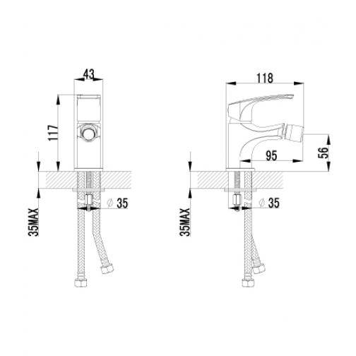 Однорычажный смеситель Lemark Plus Shape LM1708C 6690773 1