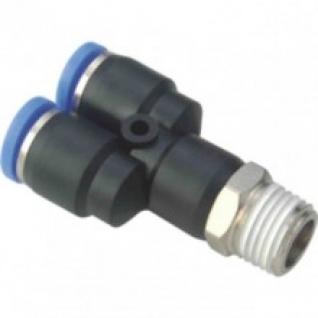"""Фитинг У-образный для пластиковых трубок 6мм с наружной резьбой 1/2"""" Partner-6003689"""