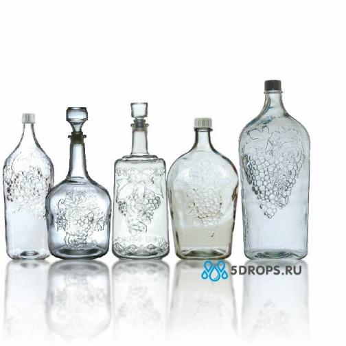 Подарочный набор стеклянных коллекционных бутылей «Виноградный»-715987