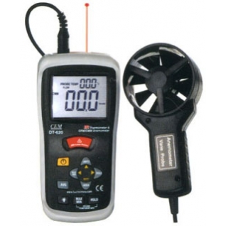 Измеритель скорости потока воздуха, пирометр CEM DT-620-6765944