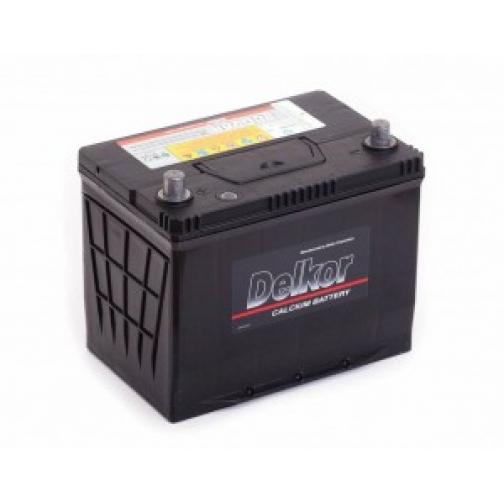 Автомобильный аккумулятор DELKOR DELKOR 75L (80D26R) 600А прямая полярность 75 А/ч (260x173x225)-6648955