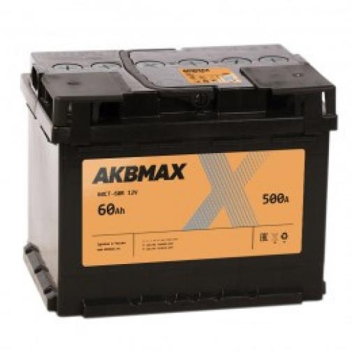 Автомобильный аккумулятор AKBMAX AKBMAX 60R 500А обратная полярность 60 А/ч (242x175x190)-6453745