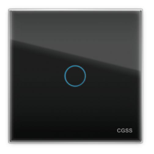 Однолинейная панель стеклянная черная cgss wt-p01b-5998630