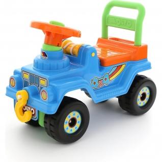 """Каталка-автомобиль """"Джип 4х4"""" (звук), голубая Полесье-37743756"""