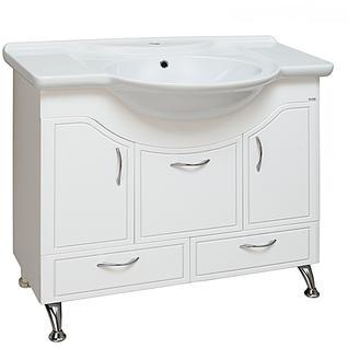 Тумба для ванной Runo Севилья 95 без Раковины (Дрея 95) Белая