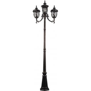 Садово-парковый столб Feron PL5009 60W 230V E27 темно-коричневое золото-8183332