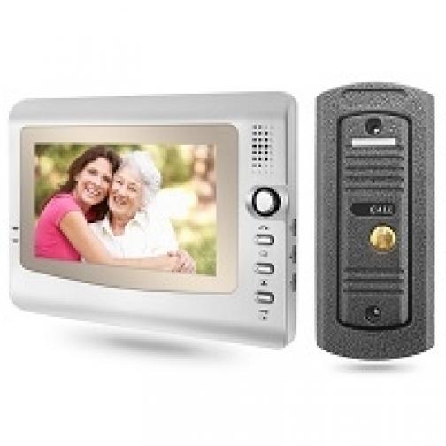 Комплект видеодомофона для квартиры, частного дома с вызывной панелью PST-VD973C