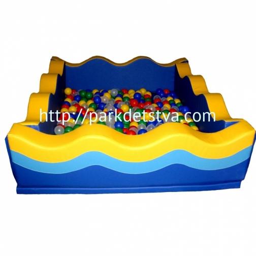 Мягкий модульный сухой бассейн Волна-6828742
