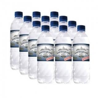 Вода минеральная питьевая лечебно-стол. газиров Липецкий Бювет 0.5 л. 12ш