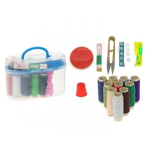 Швейный набор с нитками, 17 предметов, в асс.-5833872