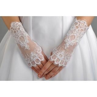 Перчатки свадебные №116, белый (короткие)-386212