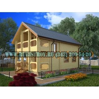 """Проект """"ПОЛЕСЬЕ"""" из профилированного бруса 145 х 140, размер 6,0 х 10,0 м., площадь дома 96 кв.м.-465303"""