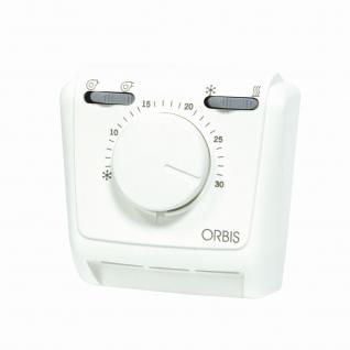 Термостат ORBIS Clima FANCOIL мех. (нагрев./конд., скор.1/скор.2) IP 20-6453707