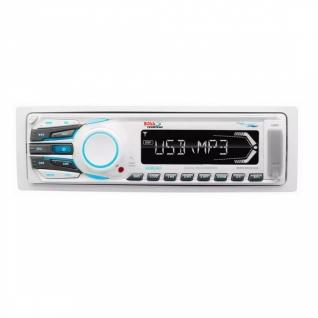 Медиаресивер цифровой Boss Marine AM/FM, 1-DIN, белый (MR1306UA)