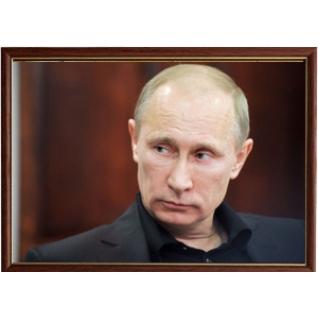 Портрет Президента Владимира Путина - 28 в рамке и со стеклом 30х40-6102930