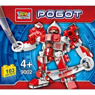 Игрушка конструктор 'город мастеров' робот, 103 дет., цвет в ассорт. в банке в кор.144шт.-37796308