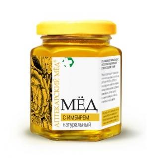 Мед аптекарский с Имбирём натуральный 250 г Эльфарма