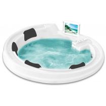Акриловая ванна Gemy с гидромассажем (G9090 O White)