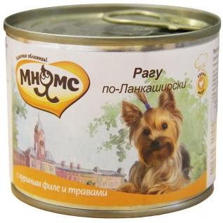 Мнямс Мнямс консервы для собак Рагу по-Ланкаширски (куриное филе с травами) 200 г
