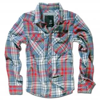 Brandit Рубашка Brandit в клетку, цвет серый-5020806