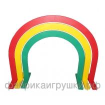 Дуги спортивные для подлезания круглые (фанера 10 мм, краска, лак).