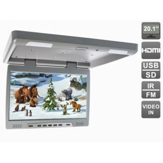 """Потолочный автомобильный монитор 20,1"""" с HDMI и встроенным медиаплеером AVIS Electronics AVS2020MPP (серый)-5763557"""