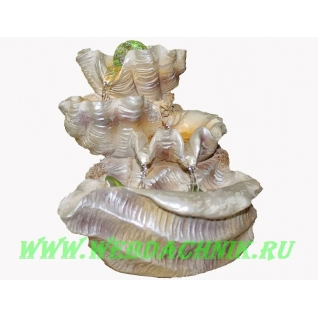 Декоративный фонтан | Настольный для дома | Ракушка-водопад-5255138