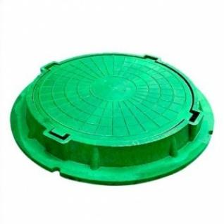 Люк полимерно-композитный легкий нагрузка 3т зеленый усиленный-8168219