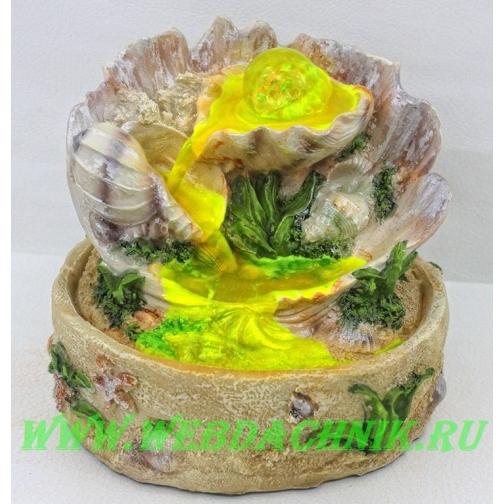 Декоративный фонтан | Настольный для дома | Мир ракушки 30 см.-5255140
