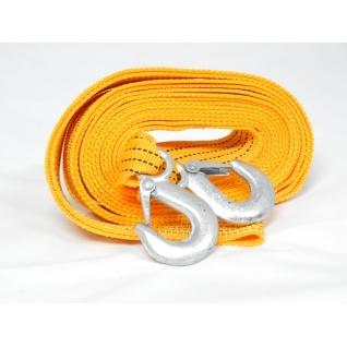 Трос буксировочный тканая лента 4м 3,5т с крюками Forsage-6002639