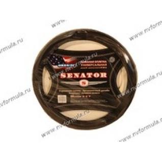 Оплетка на руль Azard Senator Oregon L d-40см черная-432552