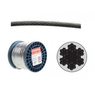 Трос стальной в ПВХ SWR M6 PVC M8 DIN 3055 (бухта/100м) (STARFIX) STARFIX-6005250