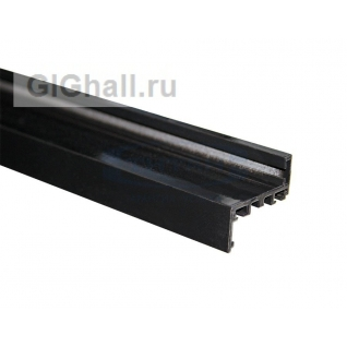 TI-802Н RAL 9005 (Черный) Комплект AL (Z-обр.) дверной коробки с уплотнителем и уголками, L=6000mm