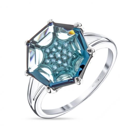 Кольцо из серебра с алпанитом TEOSA КЛ-24/03273-T-1 КЛ-24/03273-T-1 TEOSA-8931630