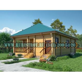 "Проект ""АРАКУЛЬ"" из профилированного бруса 145 х 190 мм, размер 12 х 9, площадь дома 95,7 кв.м.-465297"