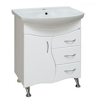 Тумба для ванной Runo Бриз 65 без Раковины (Элегант 65) Белая