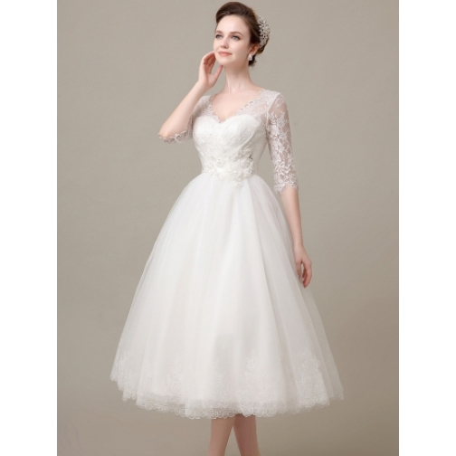 Платье свадебное Короткие свадебные платья⇨Нежные чувства-661958