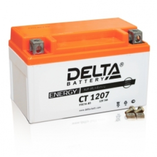 Аккумулятор для мототехники DELTA DELTA CT 1207 105А прямая полярность 7 А/ч (152x87x95)-5789158