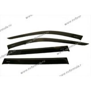 Дефлектор боковых окон Lada Largus 2012 накладной 4шт-432518