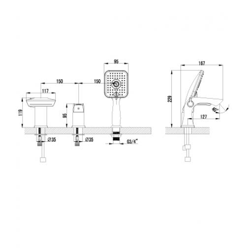 Однорычажный смеситель Lemark Unit LM4545C 6690859 1