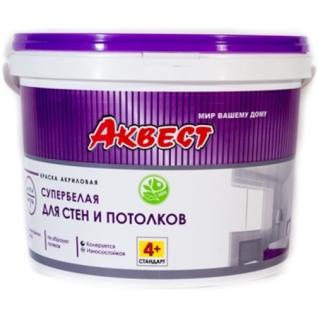 Краска для стен и потолков акриловая АКВЕСТ-4+ Стандарт 7 кг.