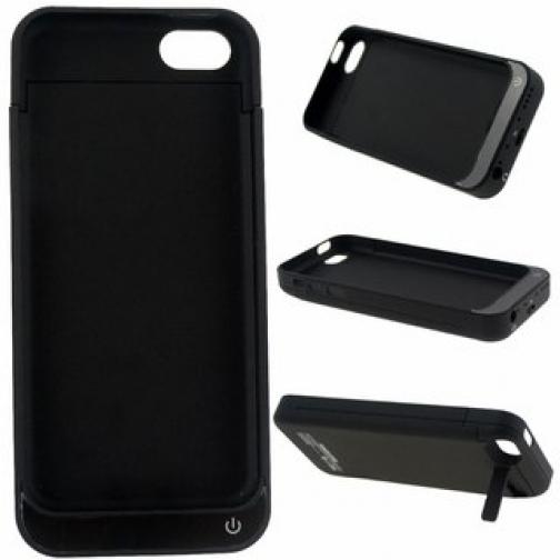 Чехол зарядка для iphone 5/5s 2200mAh черный-5246094