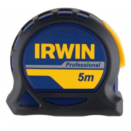 Рулетка Irwin 5м х 19мм PROFESSIONAL, магнит, нейлон, двухсторонняя разметка-8159128