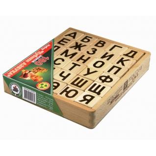 """Деревянные кубики """"Азбука"""", 30 шт. Престиж-37744396"""