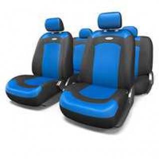 VW Polo sedan 2010- / Фольксваген Поло седан 2010- Чехлы AUTOPROFI Extreme универсальные черные/синие-415113