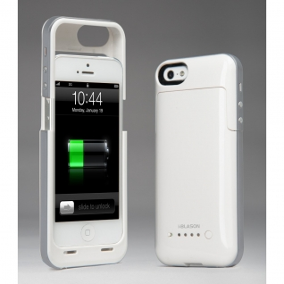 Чехол зарядка для iphone 5/5s 2200mAh белый