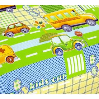 Комплект ясельного постельного белья Машинки, цвет зеленый-37653178