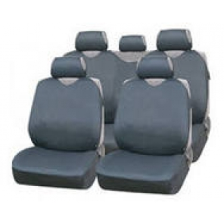Nissan Almera IV / Ниссан Альмера IV седан 2012- Чехлы майки AUTOPROFI R 1 Sport темно-серые-433858