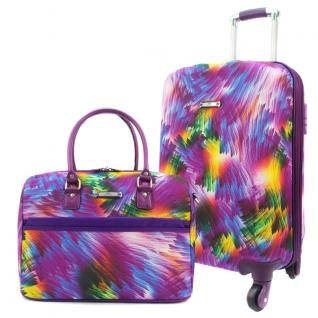 """арт. BA 5011 purple 25/16"""" Набор: чемодан + сумочка Borgo Antico.-6758326"""