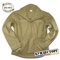 Mil-Tec Куртка Mil-Tec флисовая ветрозащитная, цвет койот